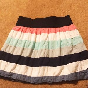 Maurices color stripe skirt
